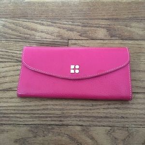 Kate Spade Pink Genuine Leather Organizer Wallet
